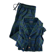 Flanell-Pyjama 'Black Watch'-Tartan