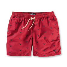 Barbour-Badeshorts in Rot