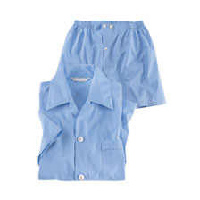 Shorty Pyjama' in Light Blue von Derek Rose