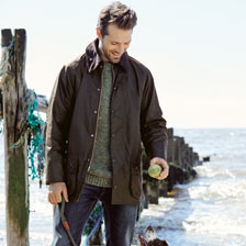 Barbour Beaufort Wachsjacke in Braun
