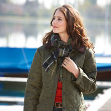 Barbour Steppjacke Liddesdale in Oliv