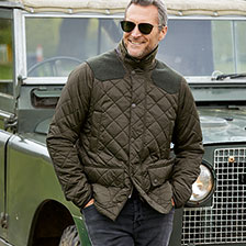 Modische Steppjacke in Oliv von Barbour