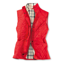 Barbour Steppweste in Rot