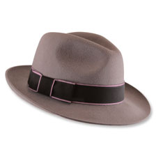 Christys' Trilby Hat 'Rosie' in Taupe