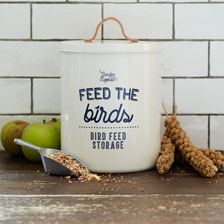 Vogelfutterdose 'Feed the birds!'