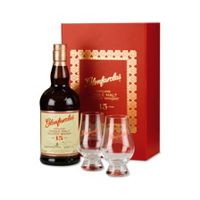Single Malt Scotch Whisky Geschenkbox mit 2 Gläsern