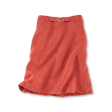 Kinbury-Rock aus Sommer-Leinen in Burnt Orange