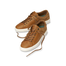 Ledersneaker in Cognac von Barbour