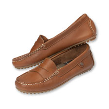 Leder-Loafer in Cognac von Barbour