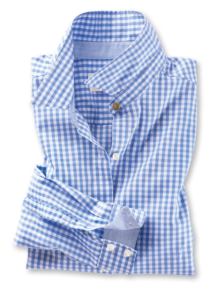 Barbour-Bluse im 'Gingham Check' in Sky
