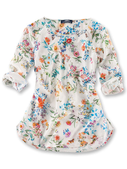 Shirt-Bluse 'Flowery Meadow' von Herringbone