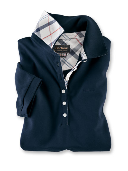 Barbour-Poloshirt 'Golding' in Navy