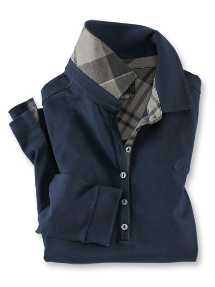Poloshirt 'Winter Tartan' in Navy von Barbour
