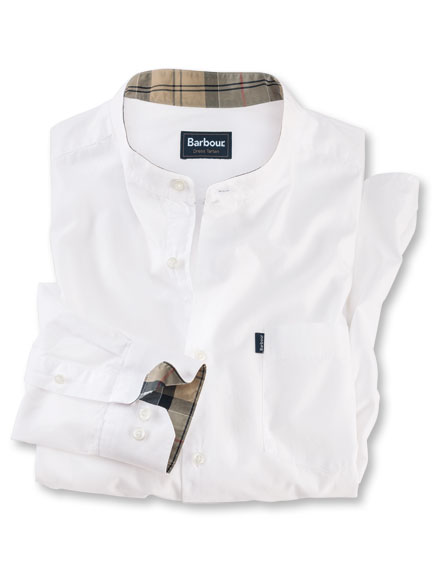 Barbour-Shirt 'Fairfield' in Weiss