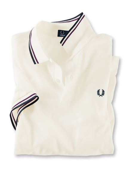 Fred-Perry-Polo in Weiß