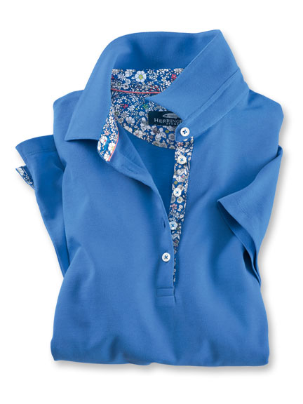 Liberty-Poloshirt 'Junes Meadow' in Royal Blue