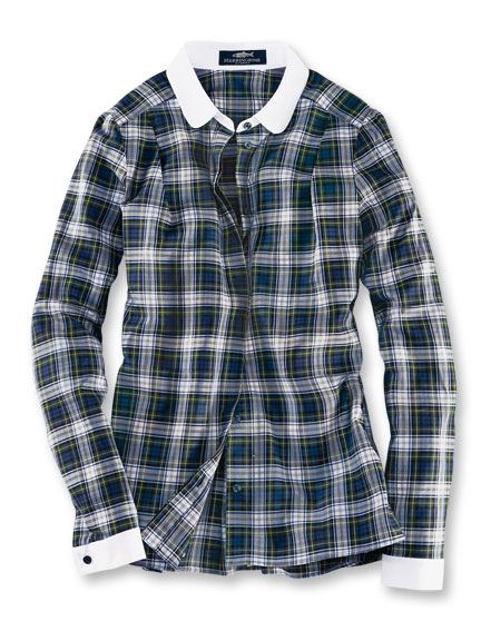 Herringbone-Bluse 'Dress Gordon'-Tartan