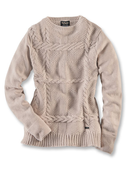 Country-Pullover in Sand von Barbour