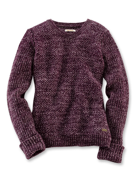 Barbour-Pullover in Bordeaux meliert