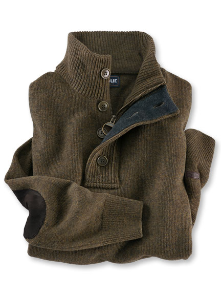 Kerniger Strickpullover von Barbour in Oliv