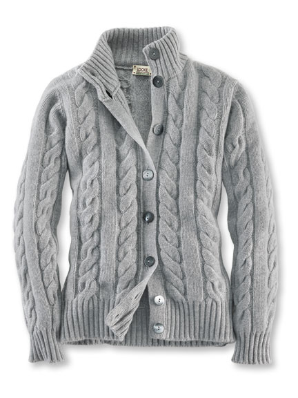 Cardigan in Silber-Hellgrau von William Lockie
