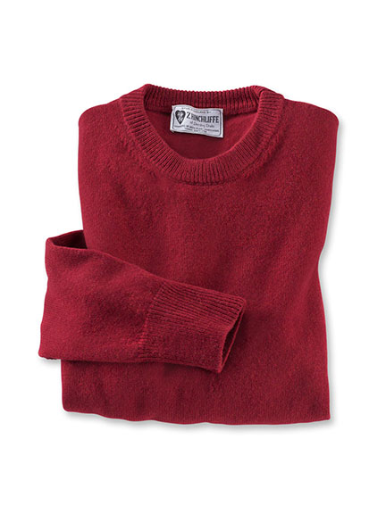 Lambswool-Pullover aus Hinchliffe-Wolle in Rot