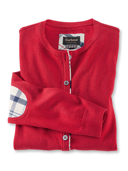 Strickcardigan 'Hamerley' in Rot von Barbour