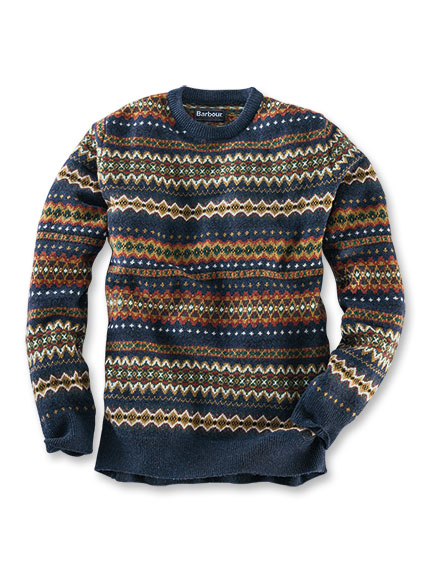 Barbour 'Fair Isle'-Pullover aus Lambswool