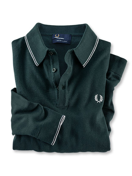 Perry's Polo-Pullover in Racing Green