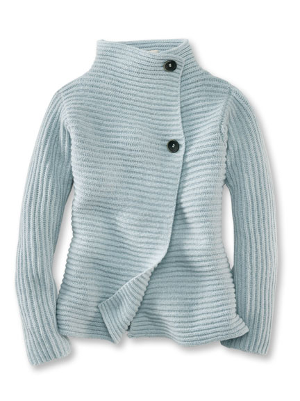 Strickjacke 'Killarney' in Polarblau von Fisherman