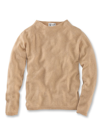 Kaschmirpullover in Camel von Johnstons of Elgin