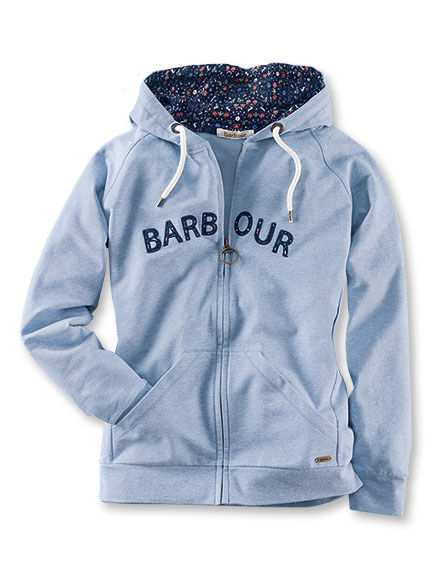 Barbour-Sweatshirtjacke 'Water Lily' in Sky Marl