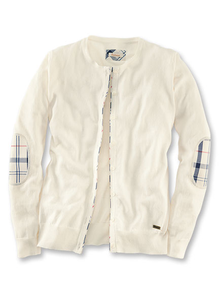 Barbour-Cardigan 'Hamerley' in Creme