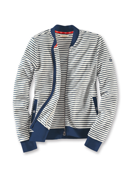 Sweatjacke in White und Navy von Barbour