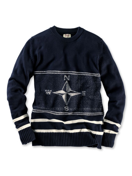 Sommerpullover 'Mariner's Compass' in Navy