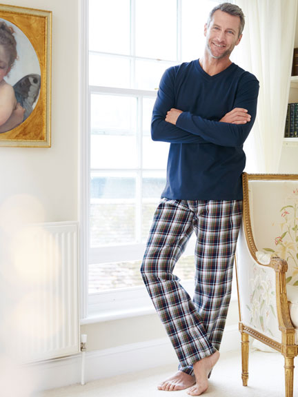 Winter-Pyjama im 'Country Check'