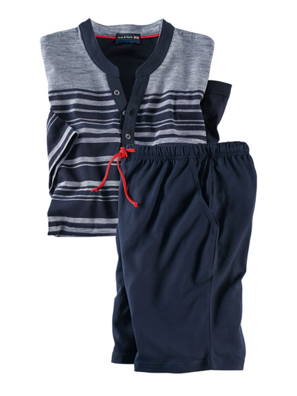 Sportiver Sommer-Pyjama in Navy von Scott & Perth