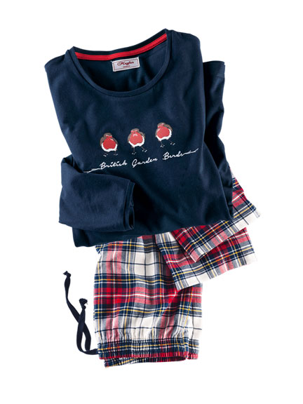 Pyjama 'Little Robin' in Navy von Mayfair