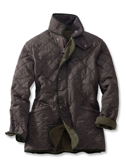 Steppjacke 'Duracotton Polarquilt Jacket' in Tabak
