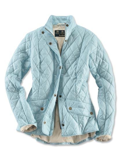Barbour-Steppjacke 'Flyweight Cavalry' in Aquamarin