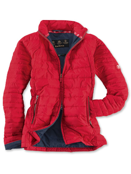 Sommerleichte Steppjacke in Rot von Barbour