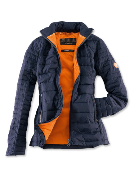 Sommerleichte Steppjacke in Navy von Barbour
