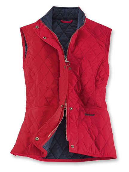 Barbour-Steppweste 'Summer Liddesdale' in Rot