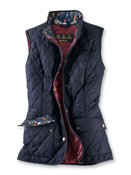 Barbour-Steppweste 'Saddleworth' in Navy