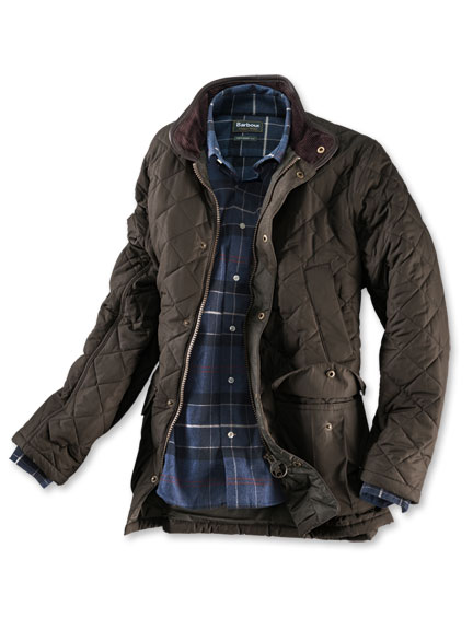 Steppjacke 'Devon' in Oliv von Barbour