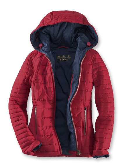 Barbour Steppjacke 'Cragside' in rot