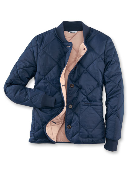 Barbour-Steppjacke 'Freckleton' in Navy