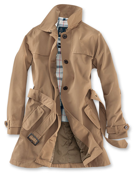 Sommertrench in Camel von Barbour