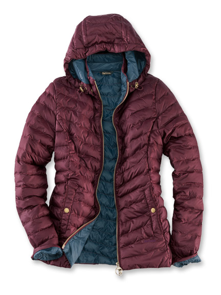 Barbour-Steppjacke 'Highgate' in Bordeaux und Navy