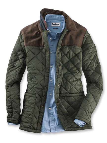 Barbour-Jacke 'Gillock' in Oliv